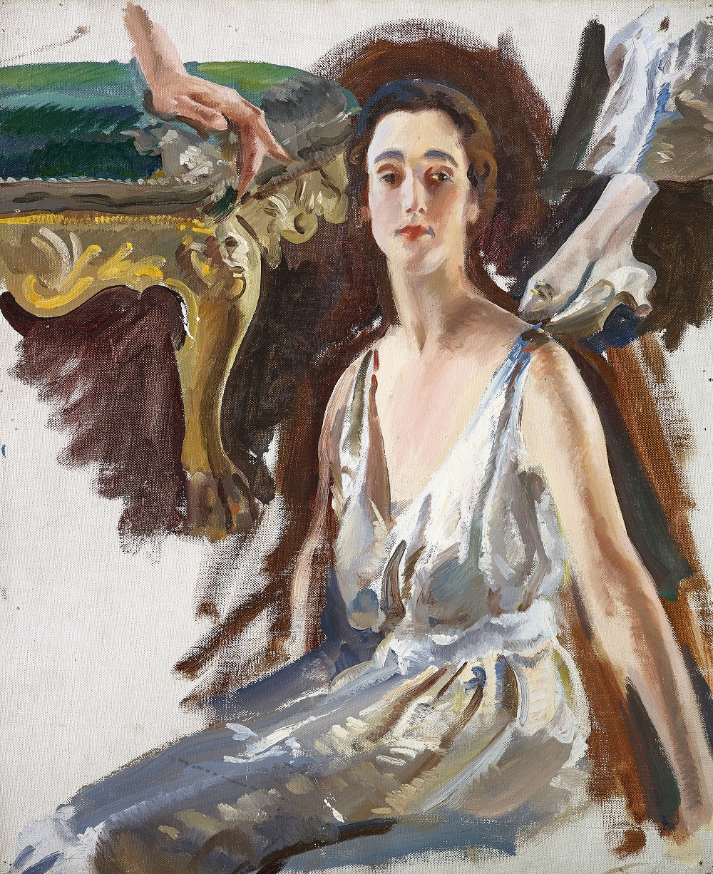 Portrait of Sybil, Countess of Rocksavage by Charles Sims, oil on canvas, 1922. Purchased by Grosvenor Museum, Chester, with support from the ACE/V&A Purchase Grant Fund, Philip Mould, Art Fund, and the Grosvenor Museum Society