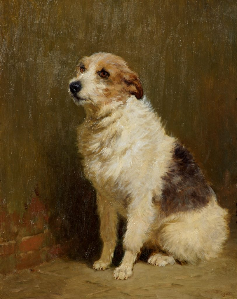 Portrait of 'Pilu', a Performing Dog, by John Charlton (1849–1917), oil on canvas, 1910, Victoria Art Gallery, Bath © Bath & North East Somerset Council 2017