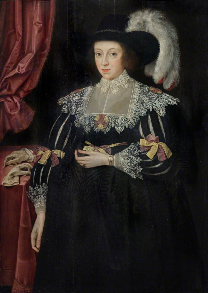 Anne Fanshawe (1607–1628) by Marcus Gheeraerts the younger (1561/1562–1635/1636). Valence House Museum.