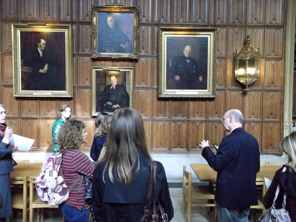 Peter Jones with delegates at King's College Cambridge