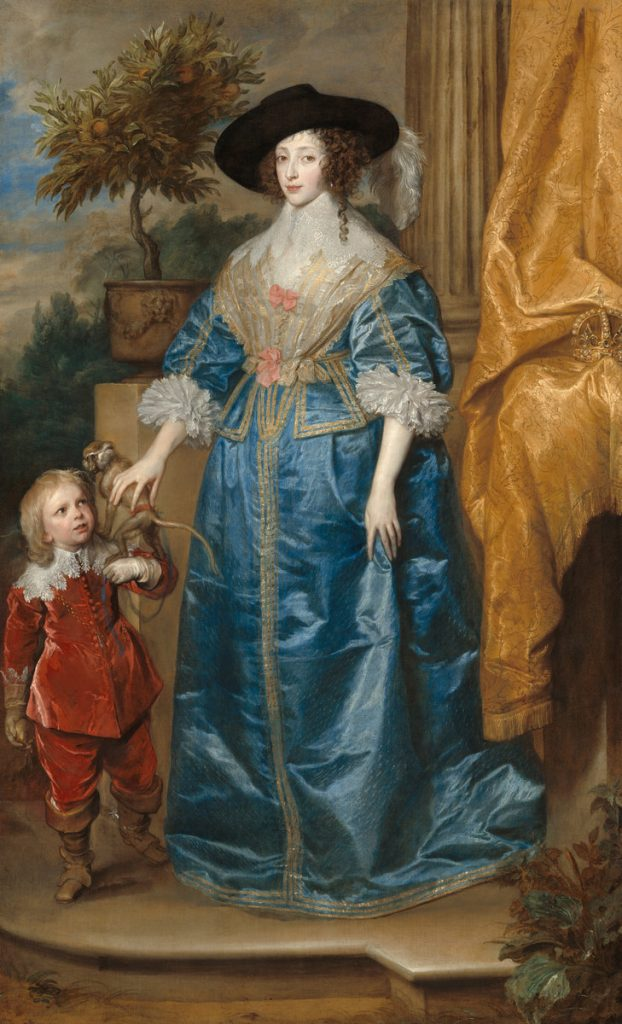 Queen Henrietta Maria with Sir Jeffrey Hudson, 1633, by Anthony van Dyck © Courtesy National Gallery of Art, Washington