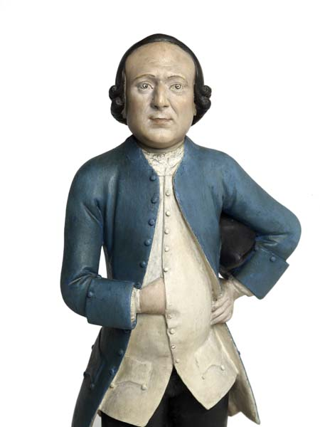 1. Thomas Todd by Chitqua, c.1770, clay statuette (detail) © Museum of London