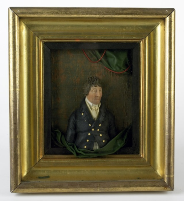 Joshua McGeough of Drumsill by Samuel Percy (c.1750-1820), coloured wax and silk in a gilt frame, signed and dated 1811 © National Trust Collections