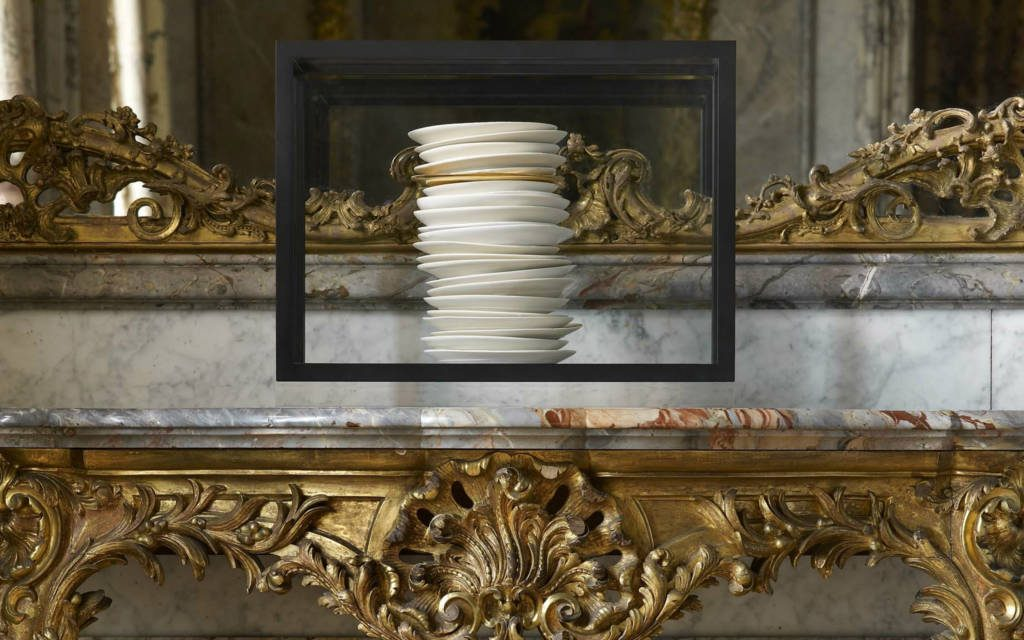 Edmund De Waal's 2012 work all and more, on display in the Dining Room at Waddesdon Manor. © Paul Barker/The National Trust