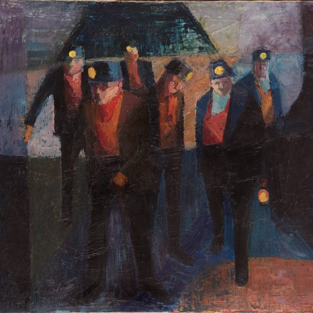 Bevin Boys by Ted Holloway, 1964. Oil. 690mm x 840mm. Photograph: Colin Davison. Copyright: The Ted Holloway Estate. Courtesy of The Auckland Project.