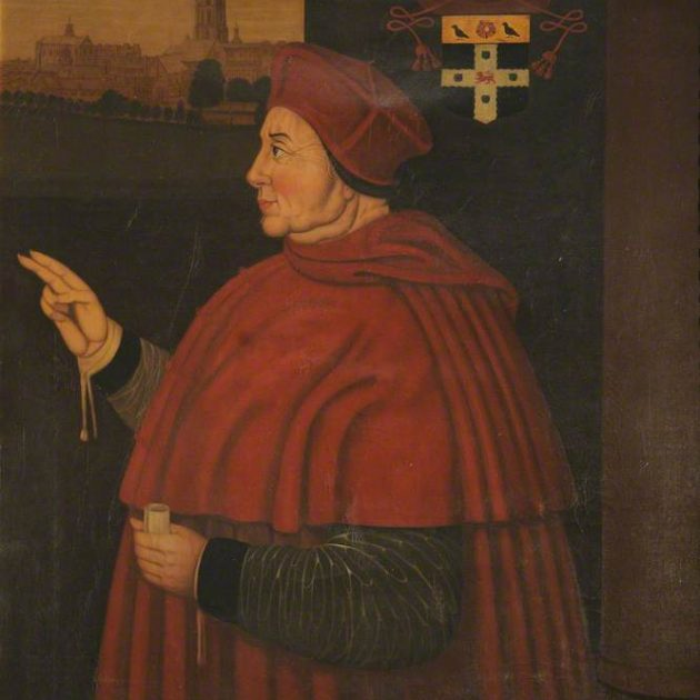 Cardinal Thomas Wolsey by Samson Strong. By permission of the Governing Body of Christ Church, Oxford