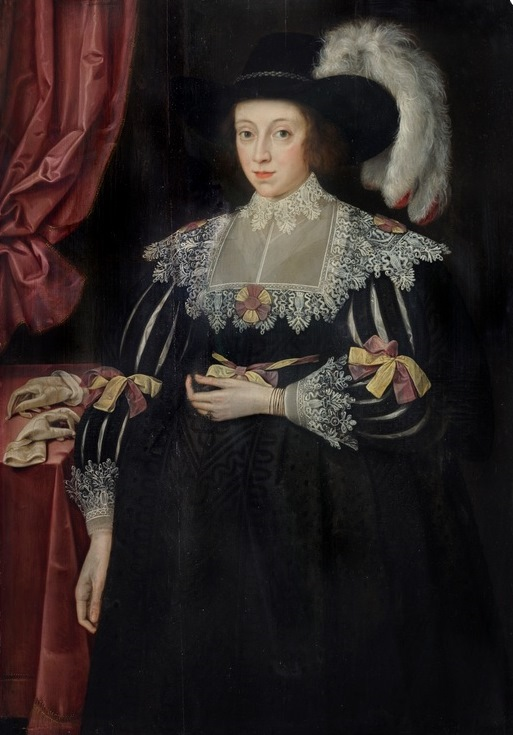 Portrait of Anne Fanshawe (1607-28), 1st wife of Thomas 1st Viscount Fanshawe by Marcus Gheeraerts the Younger, c. 1628, Valence House Museum, LDVAL 11