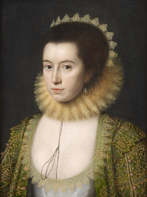 Fig 9. Anne, Countess of Pembroke (Lady Anne Clifford) by William Larkin, oil on panel, c.1618 © National Portrait Gallery, London