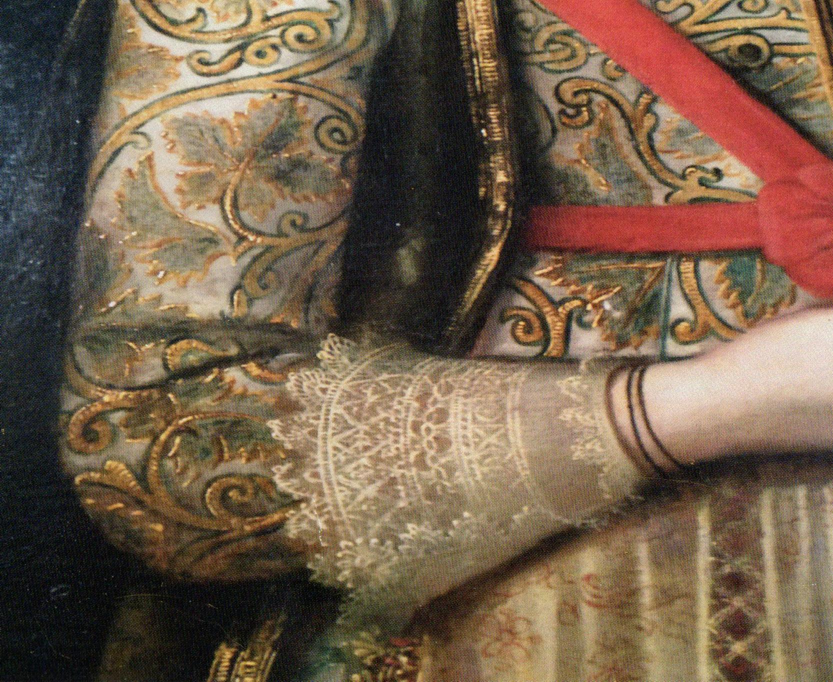 Fig 2. Detail of Lady Anne's cuff in Fig. 1.