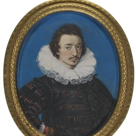 Self-portrait by Isaac Oliver, watercolour on vellum, c.1590 © National Portrait Gallery, London