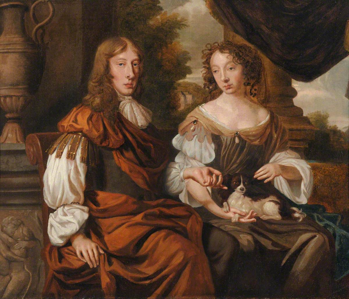 Thomas Fanshawe (1628–1705), with his second wife, Elizabeth (1641–1729), by Anglo/Dutch School. Valence House Museum. LDVAL 2004.5.2
