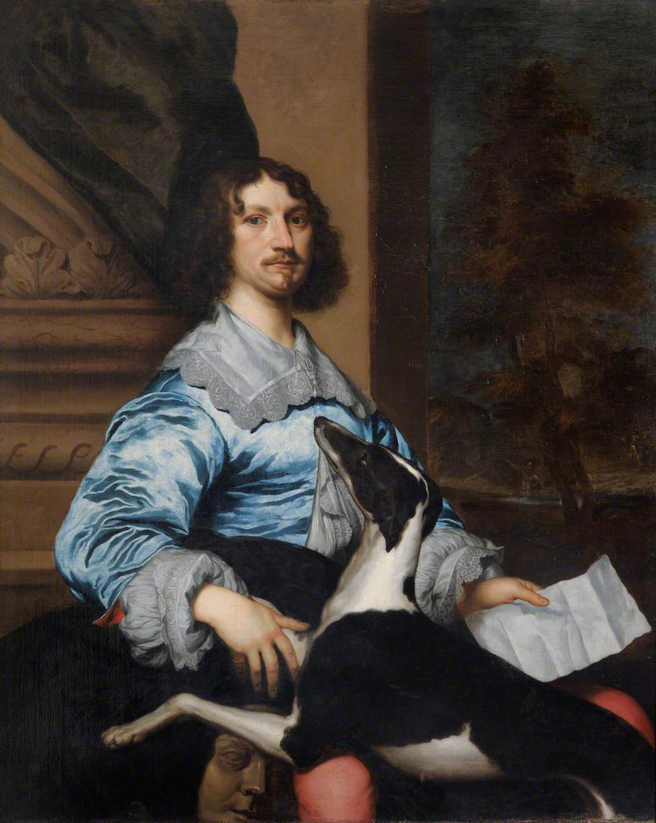Sir Richard Fanshawe (1608–1666), 1st Bt., by William Dobson (1611–1646). Valence House Museum. LDVAL 26