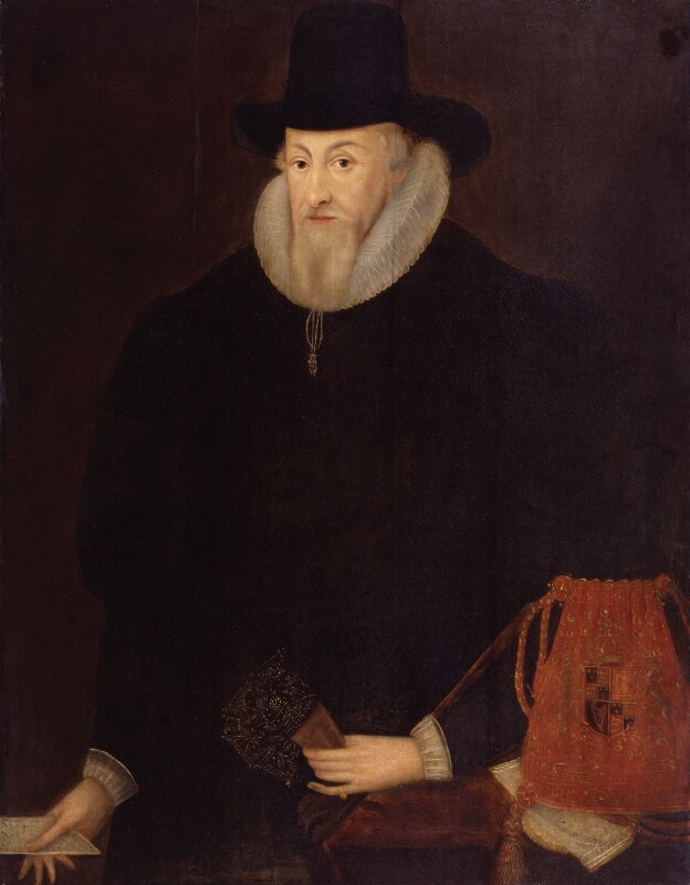 Thomas Egerton, 1st Viscount Brackley by Unknown artist, oil on panel, late 16th-early 17th century © National Portrait Gallery, London