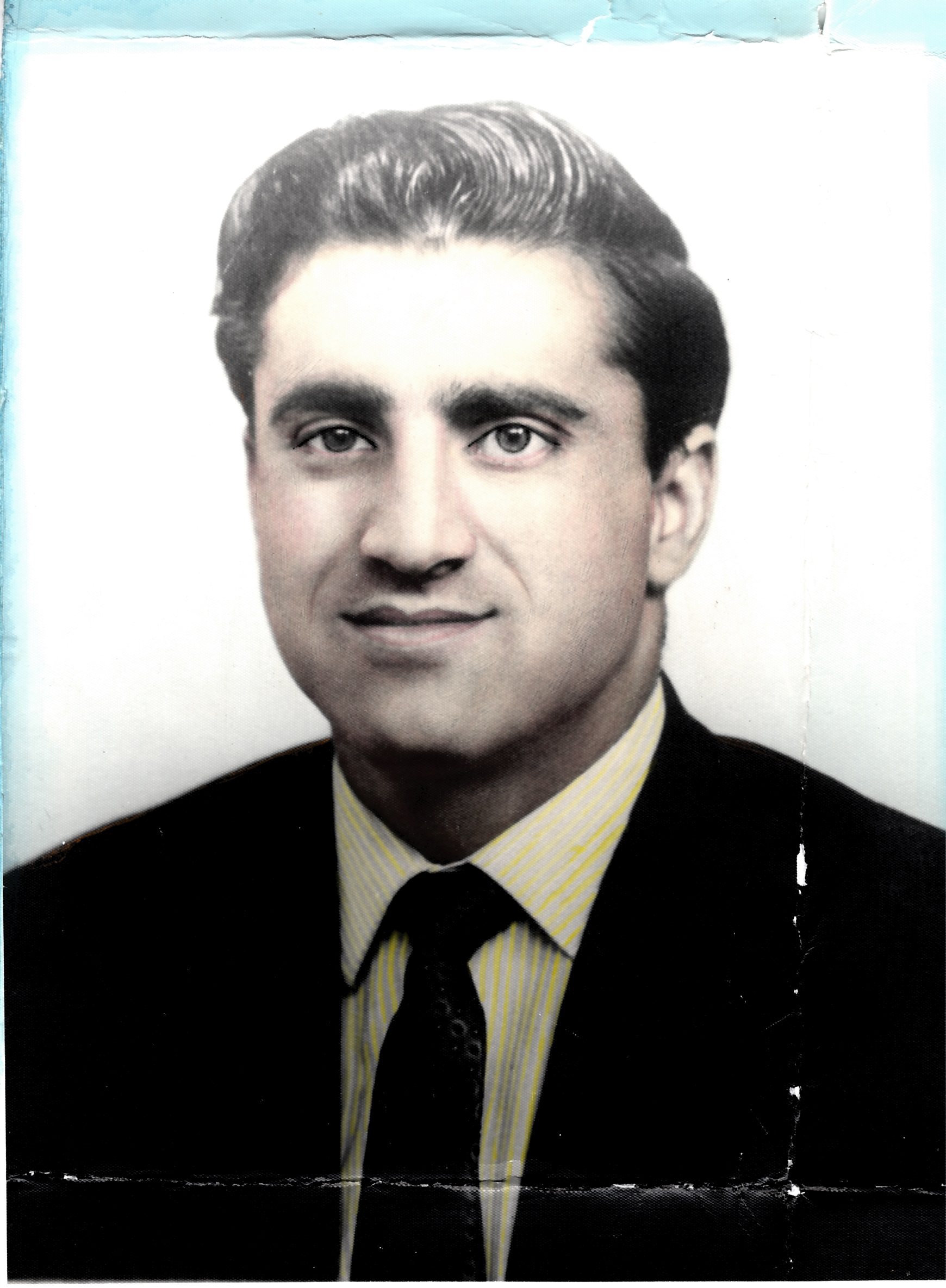 Portrait of Mr Hanif in the 1960s. Redding collection, Rugby Art Gallery and Museum.