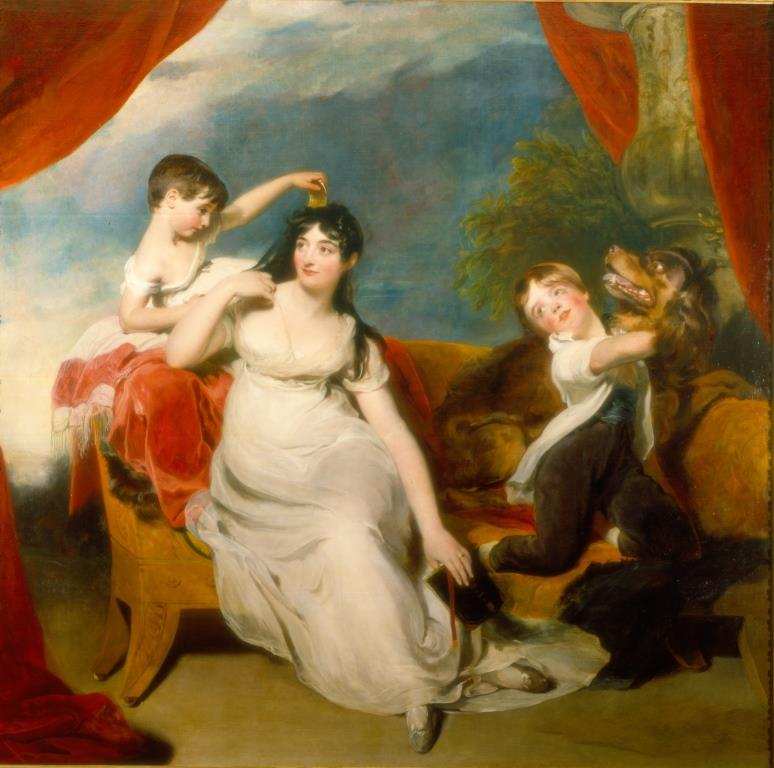 Mrs Henry Baring and children by Sir Thomas Lawrence (1817). Currently on long term loan to the Rijksmuseum. Reproduced courtesy of The Baring Archive Limited