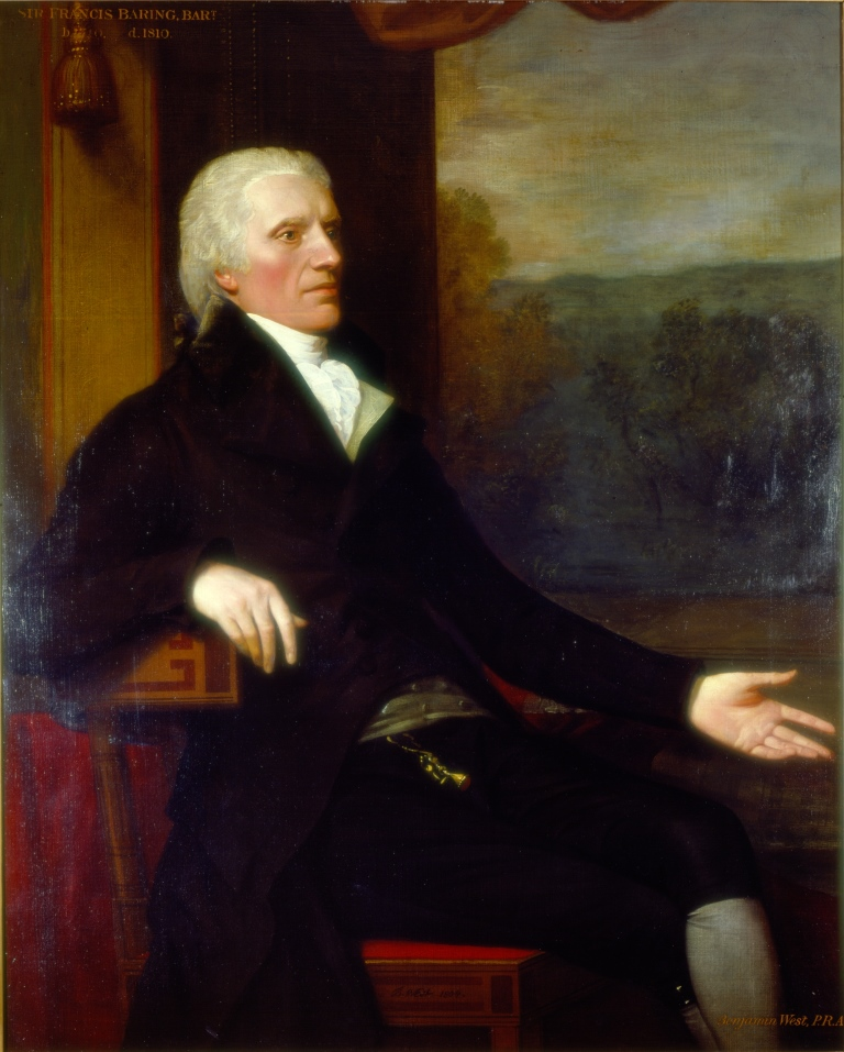 b2989aa7157 Sir Francis Baring by Benjamin West (1804). Reproduced courtesy of The  Baring Archive