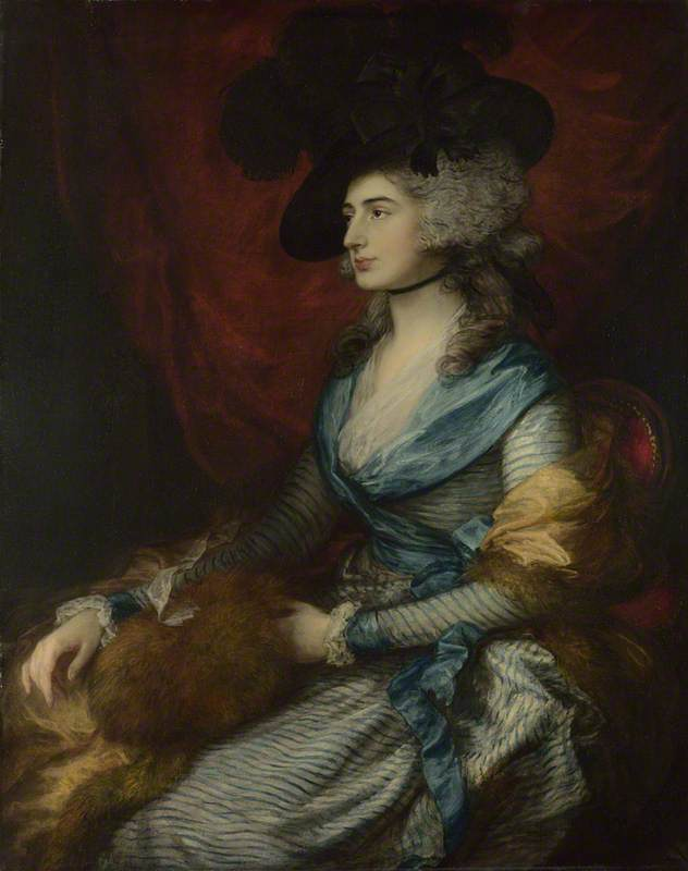 Mrs Siddons by Thomas Gainsborough, 1785. The National Gallery, London