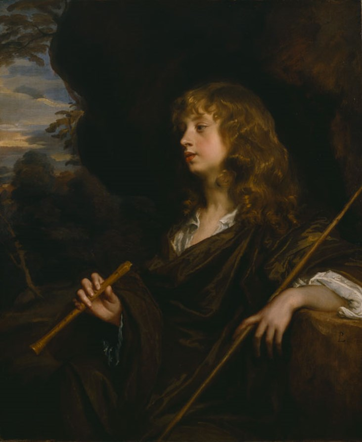 Portrait of a young man as a shepherd (portrait of Abraham Cowley) Peter Lely (1618-1680), oil on canvas, 91.4 x 75.6 cm, The Dulwich Picture Gallery, London (DPG563/1911) © By Permission of Dulwich Picture Gallery, London.