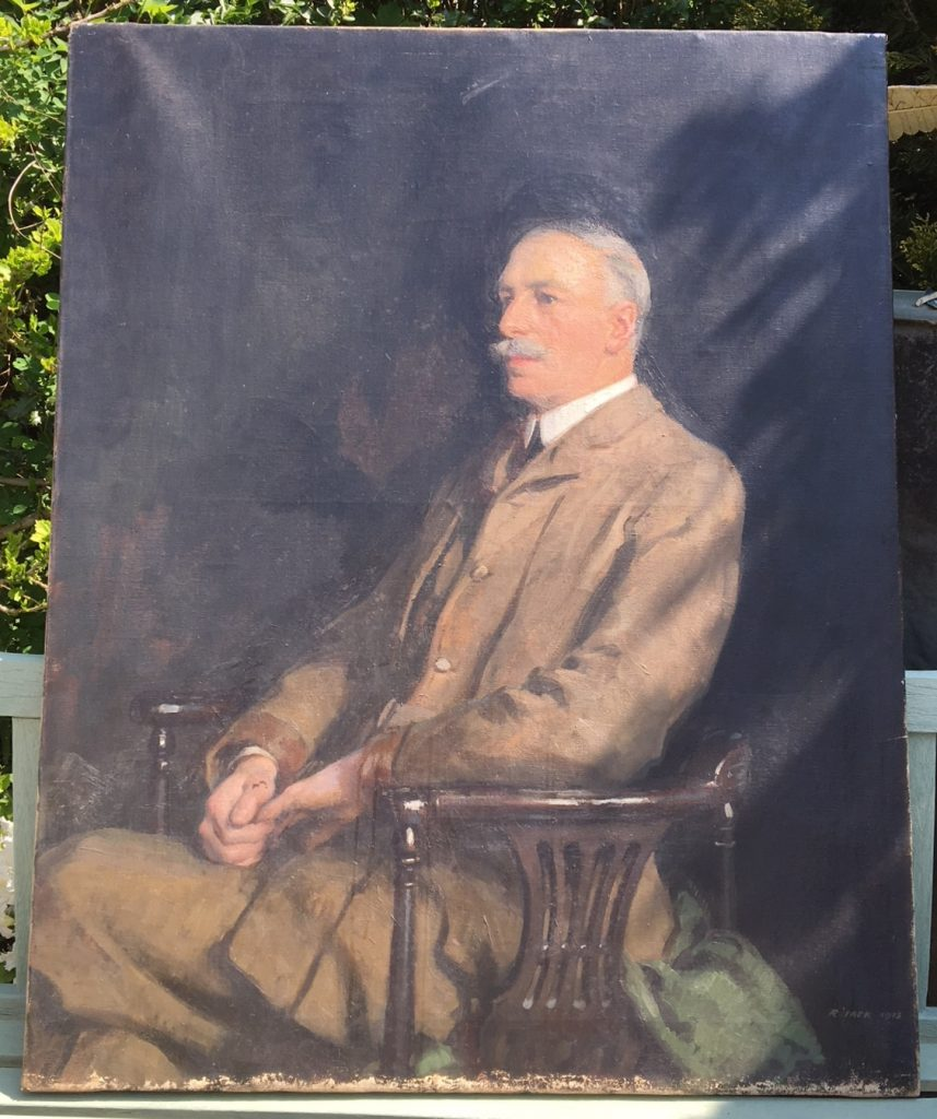 Unknown man, by Richard Jack, 1915