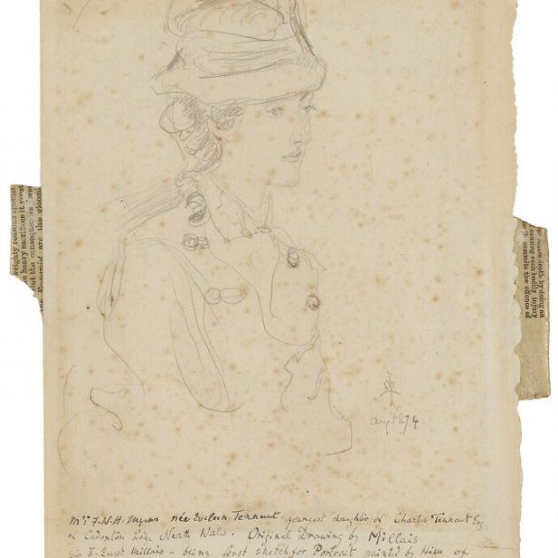 Eveleen Myers (née Tennant) by Sir John Everett Millais, 1st Bt, pencil on laid paper, August 1874 © National Portrait Gallery, London