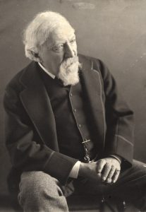 Robert Browning, poet, by Eveleen Myers (née Tennant), platinum print, 1889 © National Portrait Gallery, London