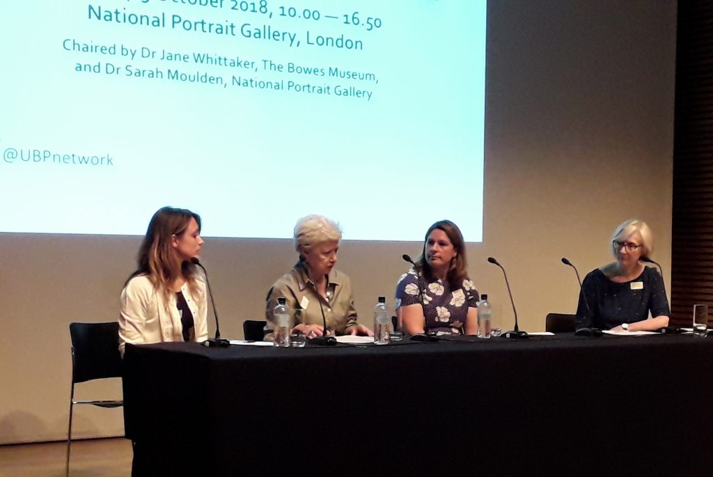 Morning discussion session at the Annual Seminar, l-r, Alice Ottazzi, Dr Rosemary Keep, Alison Cooper, chairperson Dr Jane Whittaker
