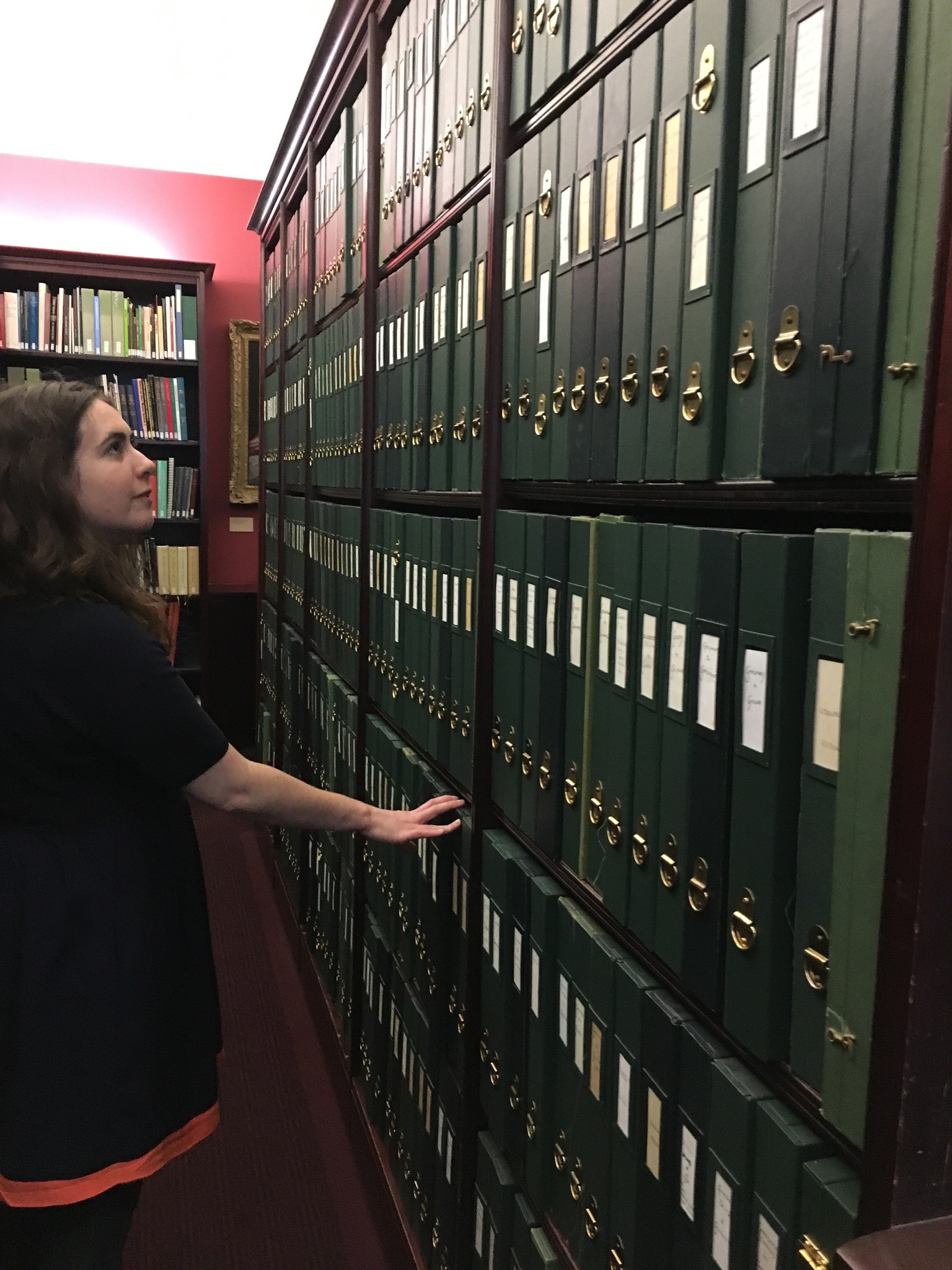 Lucy Shipp at the National Portrait Gallery's Heinz Archive and Library