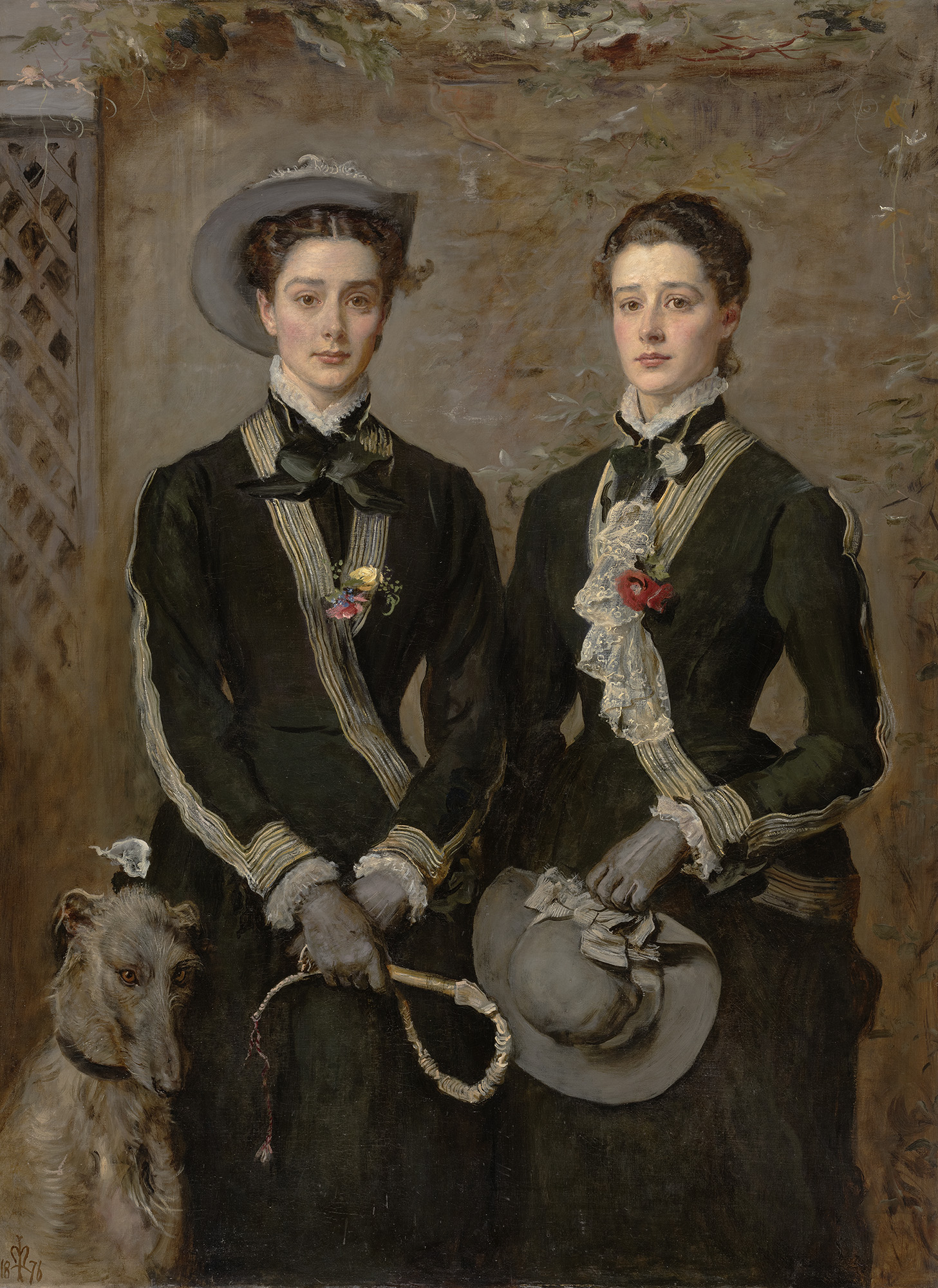 'The Twins' (portrait of Kate and Grace Hoare) by John Everett Millais (1829-96), oil on canvas, 1876. The Fitzwiliam Museum, Cambridge