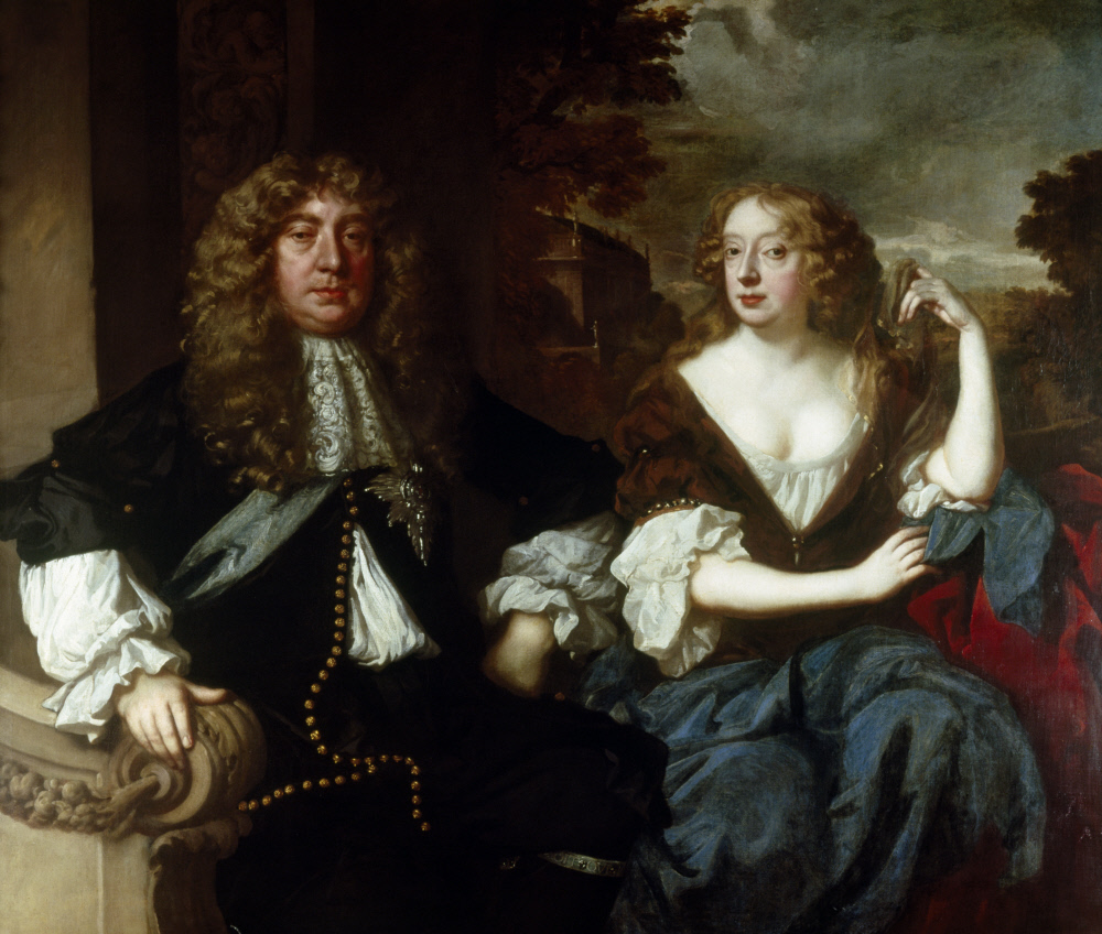 John Maitland, Duke of Lauderdale (1616-1682) and Elizabeth Murray, Countess of Dysart and Duchess of Lauderdale (1626-1698) by Sir Peter Lely (1618-80) Ham House, Richmond-upon-Thames © National Trust Images/John Bethell