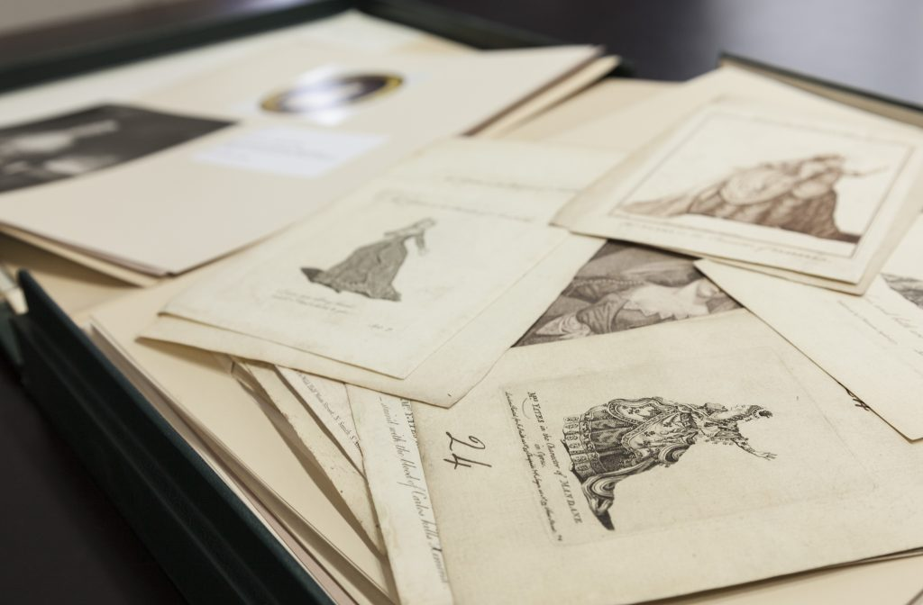 Prints in the Public Study Room sitter boxes, Heinz Library and Archive © National Portrait Gallery, London