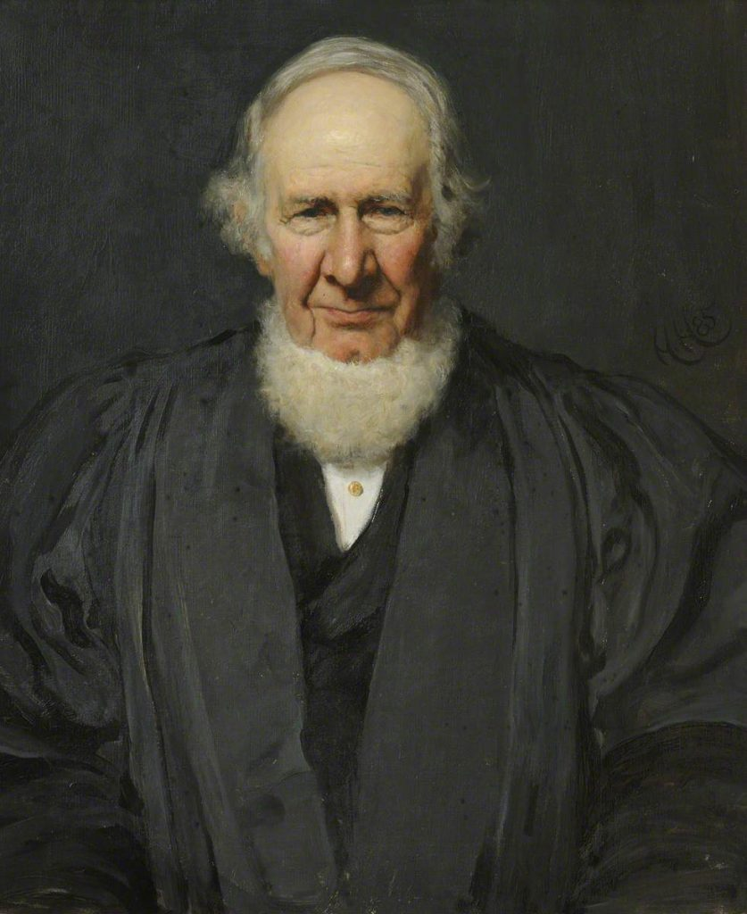 4. Hubert von Herkomer, George Phillips, Oriental Scholar, Fellow (1831–1846), President (1857–1892), oil on canvas, 74 x 61 cm. Queens' College, University of Cambridge. Photo credit: Queens' College, University of Cambridge.