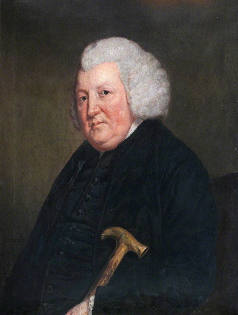 2. British (English) School, Portrait of an Unknown Old Man in Black, with a Stick, 18th C, oil on canvas, 74 x 62 cm. National Trust, Bodysgallen Hall © National Trust Images