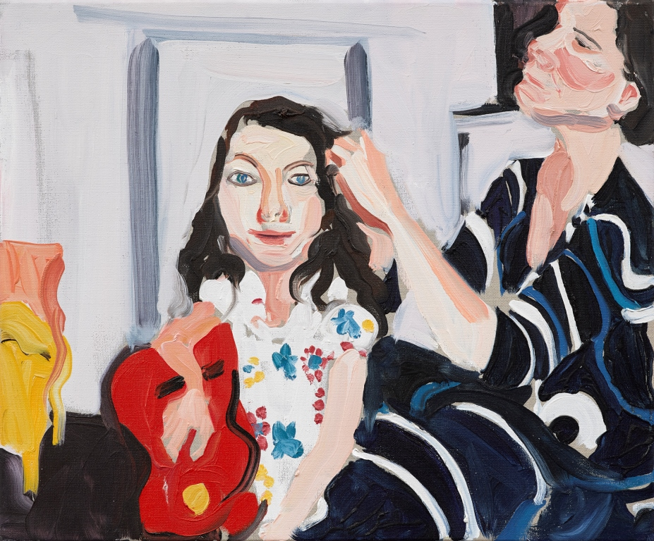 Self-portrait combing Esme's hair by Chantal Joffe, 2009 ⓒ Chantal Joffe, Courtesy the artist and Victoria Miro, London/Venice