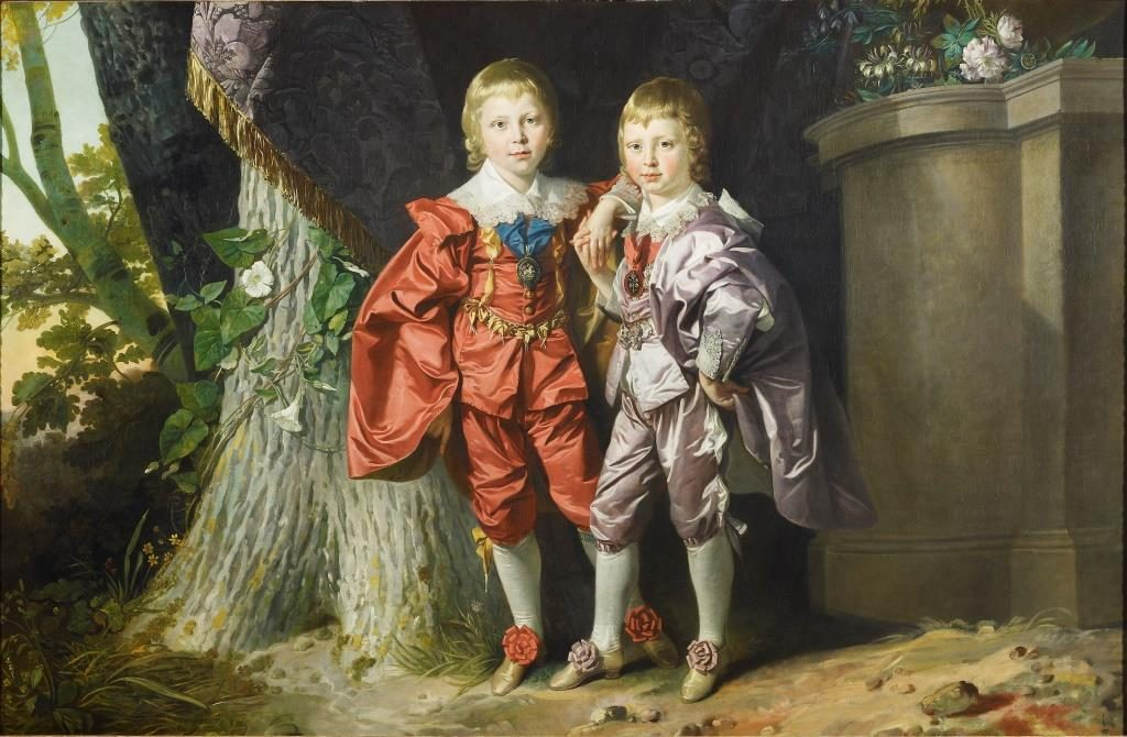 George IV when Prince of Wales, with Frederick, Duke of York when Prince Frederick by Johan Joseph Zoffany, Royal Collection Trust ⓒ Her Majesty Queen Elizabeth II 2018