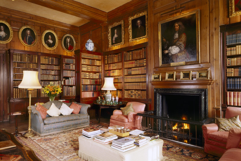 Portraits in the Library in Antony House, Cornwall © National Trust Images/Andreas von Einsiedel