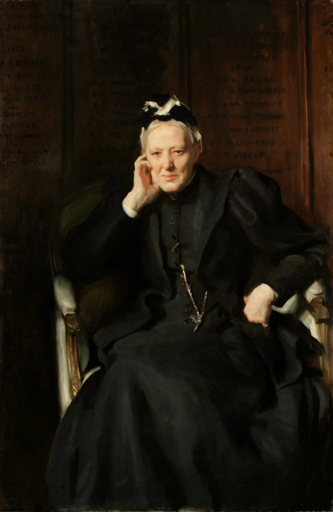 Jane Evans (1826–1906), Eton boarding house dame, by John Singer Sargent (1856–1925), oil on canvas, 1898. Reproduced by permission of the Provost and Fellows of Eton College.