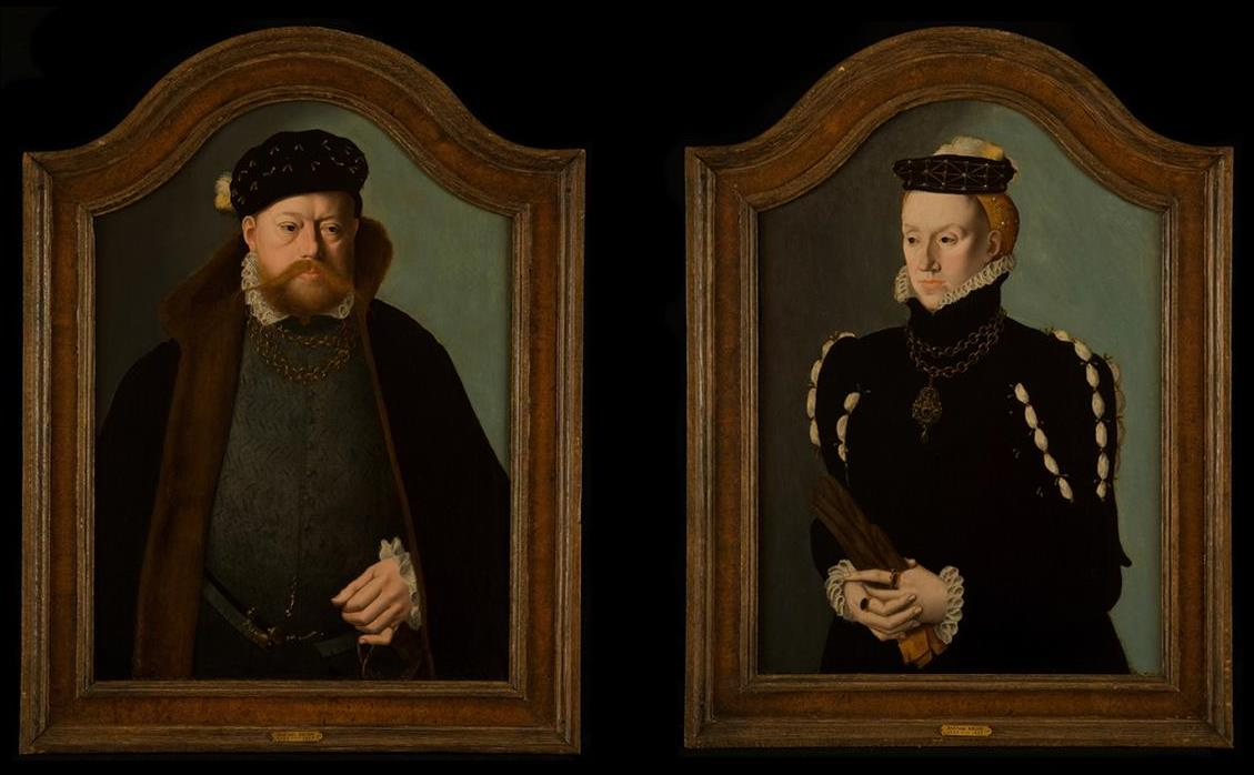 Portrait of a Gentleman and Portrait of a Lady by Barthel Bruyn the younger (c.1530-1607/10), oil on panel, c.1555-65 © Utah Museum of Fine Arts - All rights reserved