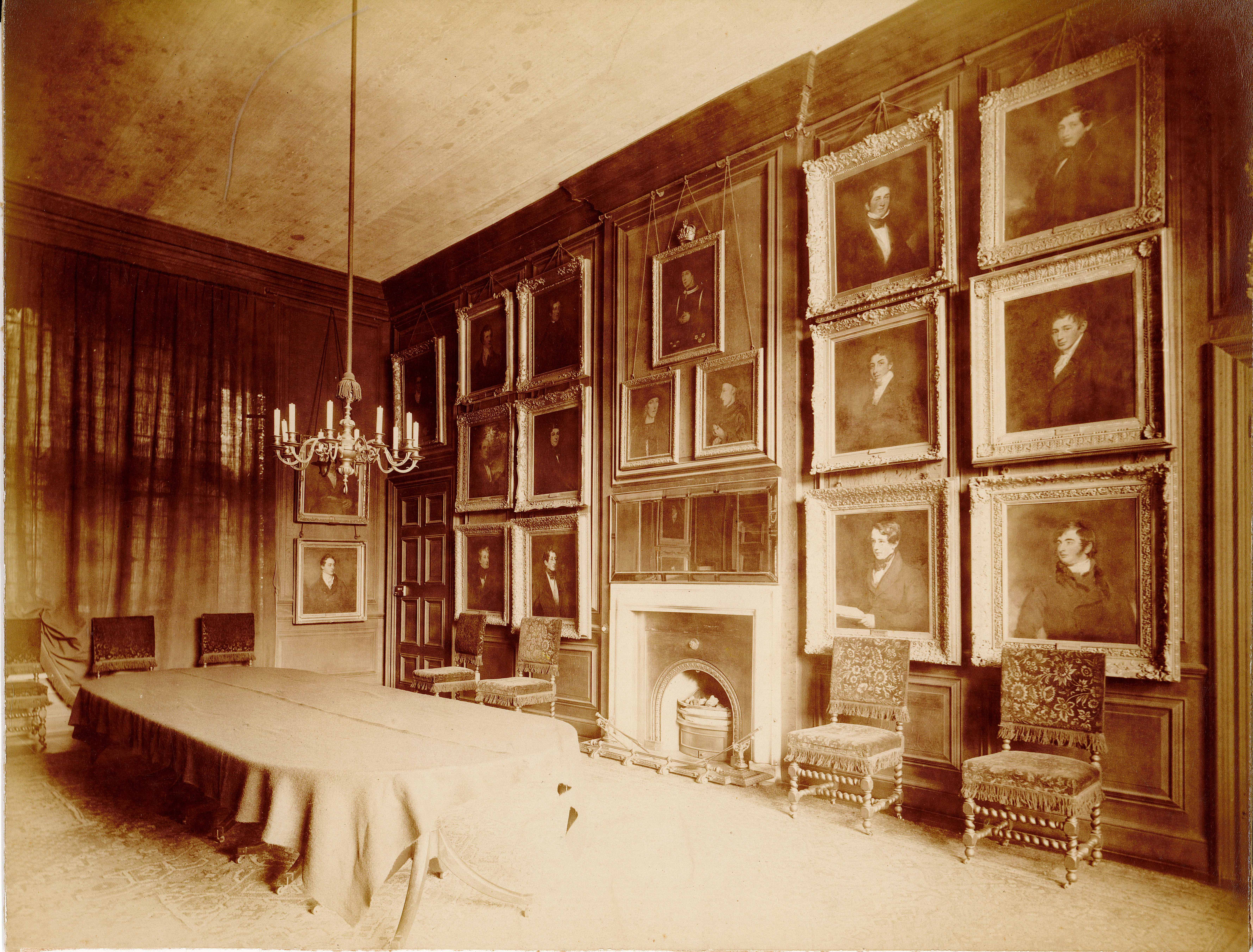 Election Chamber, Eton College, 1870s. Reproduced by permission of the Provost and Fellows of Eton College