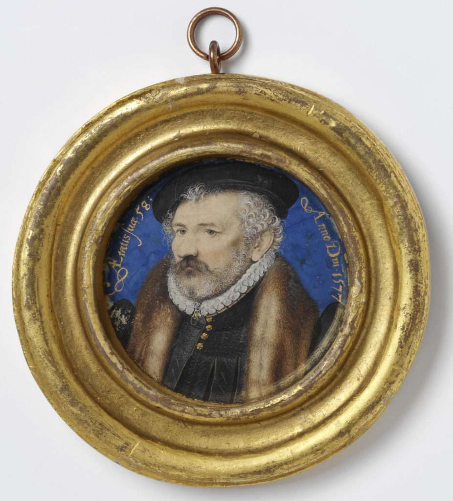 Richard Hilliard by Nicholas Hilliard, 1576/77, watercolour on vellum laid onto plain card © Victoria and Albert Museum, London 2019