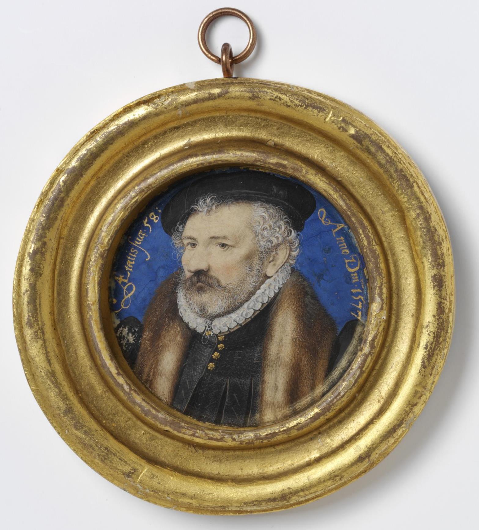 Richard Hilliard by Nicholas Hilliard, 1576/77, watercolour on vellum laid onto plain card © Victoria and Albert Museum, London 2019
