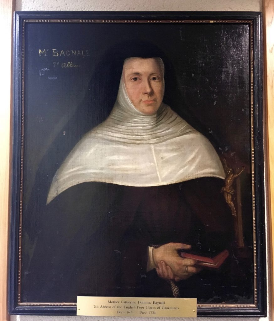Portrait of Abbess Catherine Dominic Bagnall (1673–1736), English Poor Clares. Image taken by the author