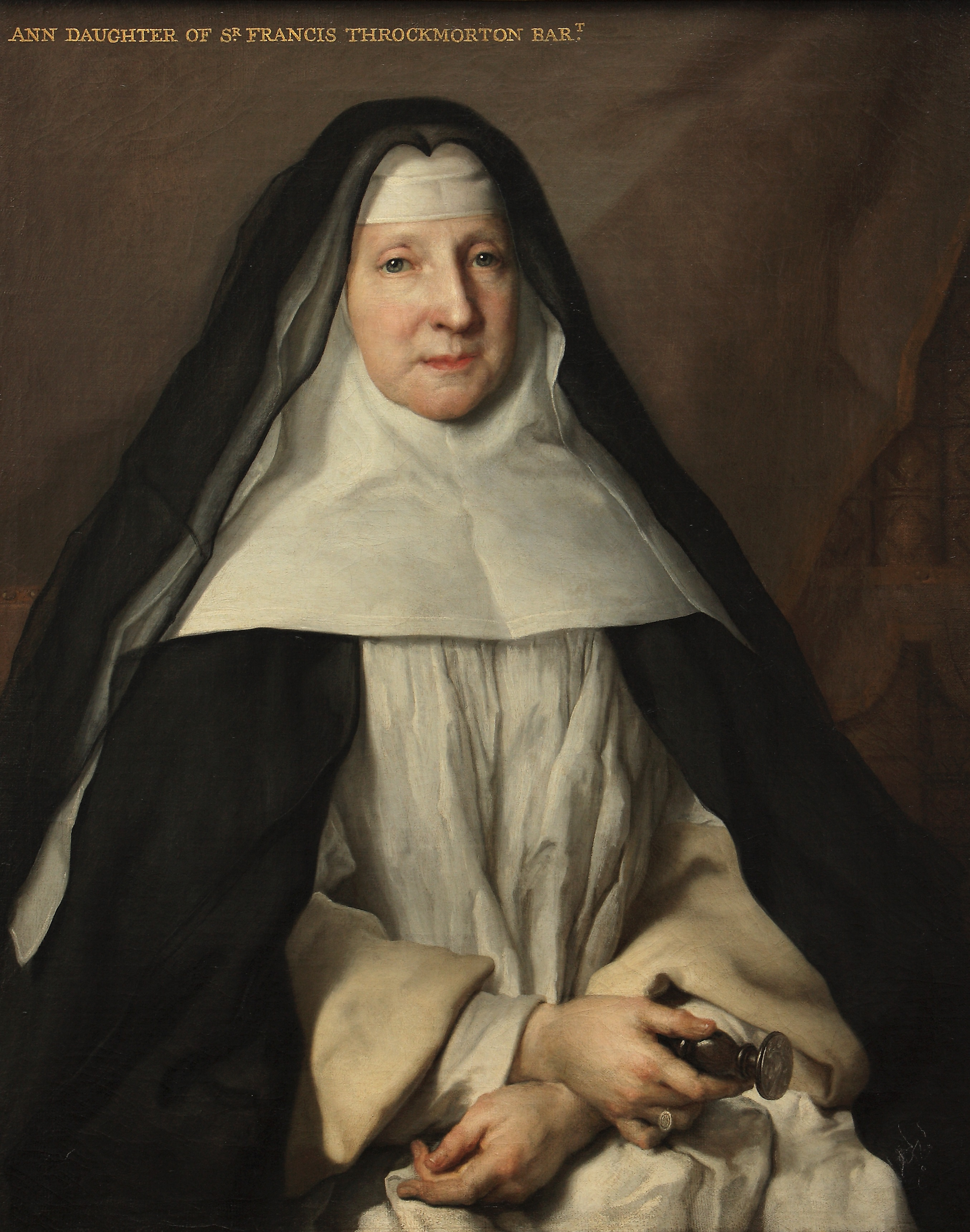 Anne Frances Throckmorton (1664-1734), Prioress of the English Augustinian Convent of Notre-Dame-de-Sion, Paris by Nicolas Largillière (1656 -1746). Coughton Court, Warwickshire, Midlands, National Trust © National Trust Images