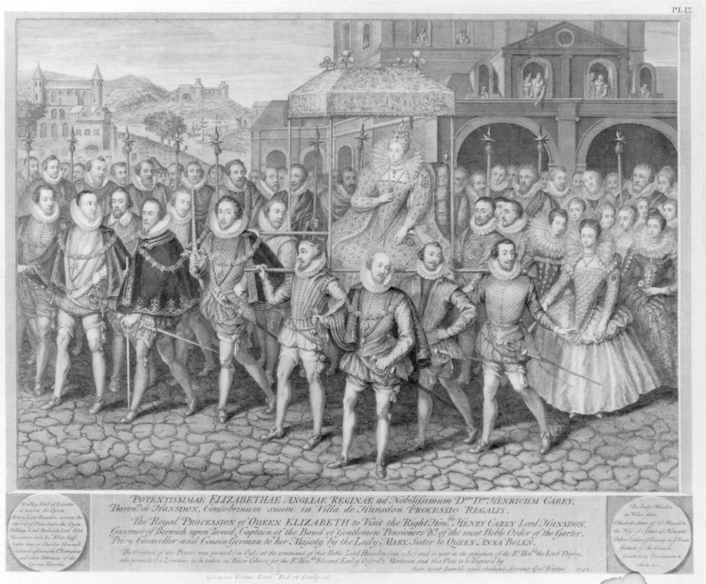 The Royal Procession of Queen Elizabeth by George Vertue, probably after Robert Peake the Elder c.1601, line engraving, 1743 © National Portrait Gallery, London