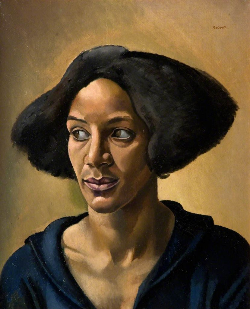 The Creole 1923 (aka, Portrait of a Negress - Hélène Yellin) William Patrick Roberts (1895–1980) © estate of John David Roberts. By courtesy of The William Roberts Society. Photo credit: The Potteries Museum & Art Gallery