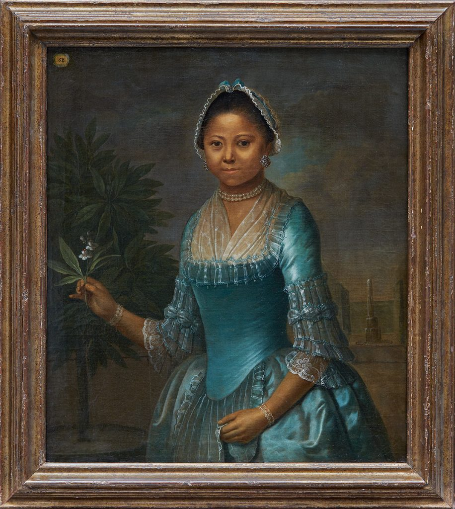 Unknown, European. Portrait of a Lady Holding an Orange Blossom, mid-18th century. Oil on canvas. Overall: 80 × 56.2 cm. Purchase, with funds from the European Curatorial Committee, 2020. 2019/2437