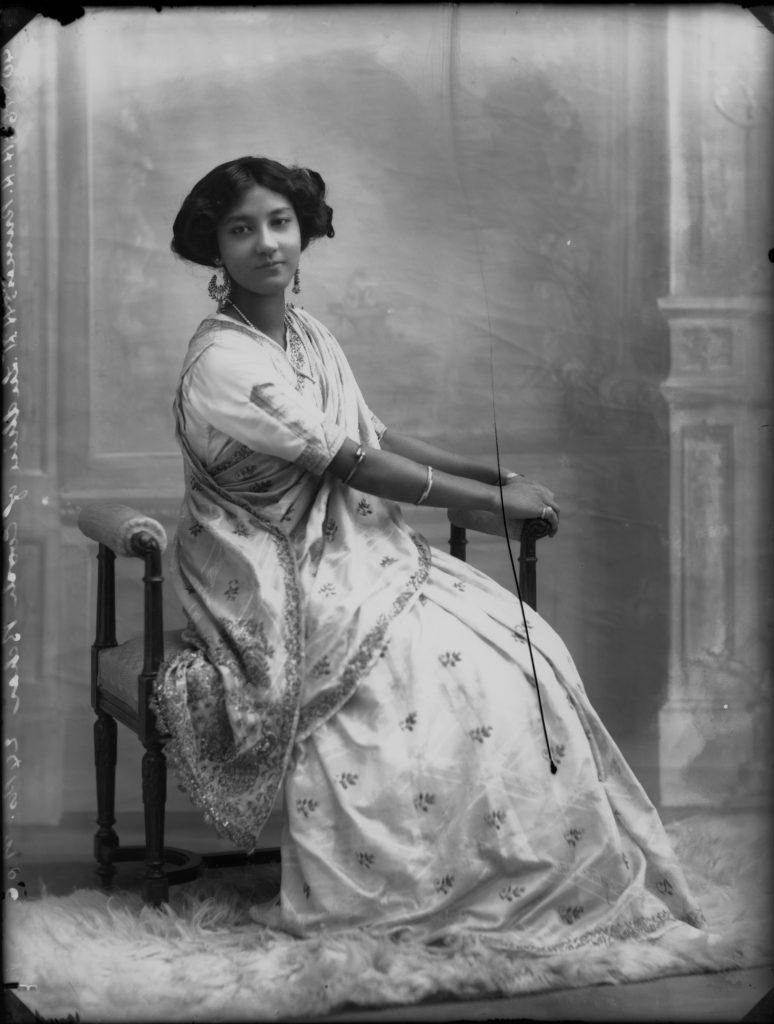 Princess Sudhira of Cooch Behar (1894-1968) by Bassano Ltd, whole-plate glass negative, 24 December 1910. NPG x33308 © National Portrait Gallery, London