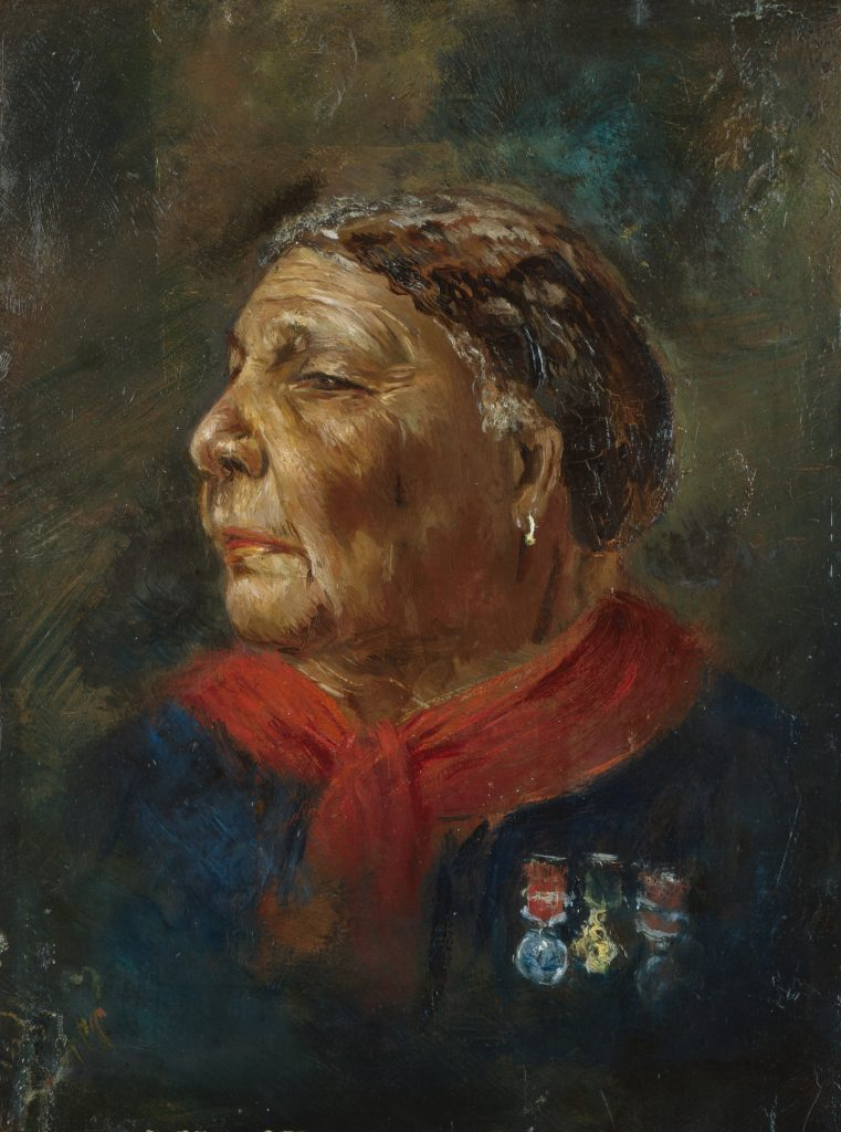 Mary Seacole by Albert Charles Challen, oil on panel, 1869. NPG 6856 © National Portrait Gallery, London